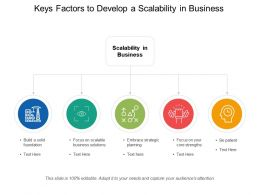 Keys Factors To Develop A Scalability In Business