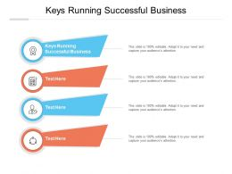 Keys Running Successful Business Ppt Powerpoint Presentation Professional Cpb
