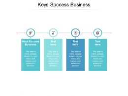 Keys Success Business Ppt Powerpoint Presentation Model Guidelines Cpb