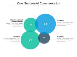 Keys Successful Communication Ppt Powerpoint Presentation Example File Cpb