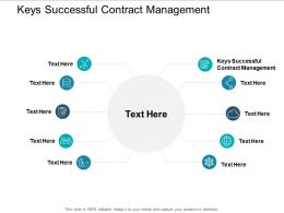 Keys Successful Contract Management Ppt Powerpoint Presentation Outline Templates Cpb