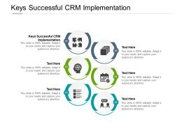 Keys Successful CRM Implementation Ppt Powerpoint Presentation Pictures Topics Cpb