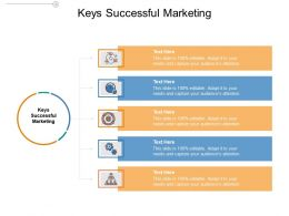 Keys Successful Marketing Ppt Powerpoint Presentation Infographic Template Graphics Tutorials Cpb