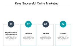Keys Successful Online Marketing Ppt Powerpoint Presentation Visual Aids Inspiration Cpb