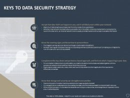 Keys To Data Security Strategy Ppt Powerpoint Presentation Styles Examples