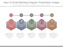 Keys To Email Marketing Diagram Presentation Images