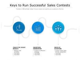 Keys To Run Successful Sales Contests