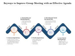 Keyways To Improve Group Meeting With An Effective Agenda