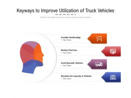 Keyways To Improve Utilization Of Truck Vehicles