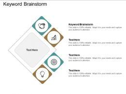 Keyword Brainstorm Ppt Powerpoint Presentation Show Cpb