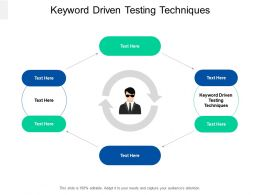 Keyword Driven Testing Techniques Ppt Powerpoint Presentation Professional Background Cpb