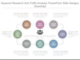 Keyword Research And Traffic Analysis Powerpoint Slide Designs Download