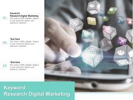 Keyword Research Digital Marketing Ppt Powerpoint Presentation Slides Visuals Cpb