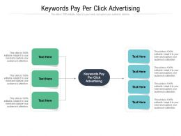 Keywords Pay Per Click Advertising Ppt Powerpoint Presentation Summary Graphics Cpb
