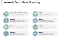 Keywords Social Media Monitoring Ppt Powerpoint Presentation Slides Icons Cpb