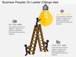 kf Business Peoples On Ladder Change Idea Flat Powerpoint Design