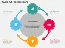 Kf Cycle Of Process Icons Flat Powerpoint Design