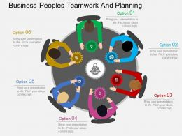 kg Business Peoples Teamwork And Planning Flat Powerpoint Design