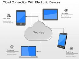 kg Cloud Connection With Electronic Devices Powerpoint Template