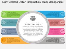Kg Eight Colored Option Infographics Team Management Flat Powerpoint Design