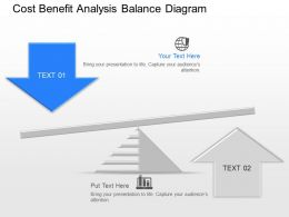kh Cost Benefit Analysis Balance Diagram Powerpoint Template