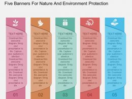 kh Five Banners For Nature And Environment Protection Flat Powerpoint Design