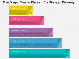 ki Five Staged Banner Diagram For Strategic Planning Flat Powerpoint Design