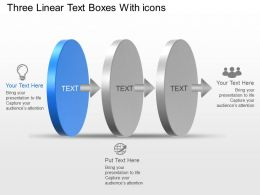 Ki Three Linear Text Boxes With Icons Powerpoint Template