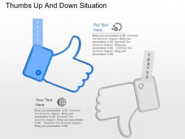 ki Thumbs Up And Down Situation Powerpoint Template