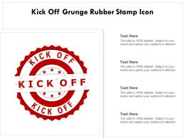 Kick Off Grunge Rubber Stamp Icon