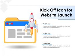 Kick Off Icon For Website Launch