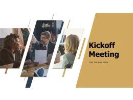 Kickoff Meeting Powerpoint Presentation Slides