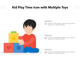 Kid Play Time Icon With Multiple Toys
