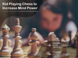 Kid Playing Chess To Increase Mind Power