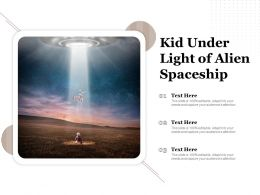 Kid Under Light Of Alien Spaceship