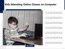 Kids Attending Online Classes On Computer