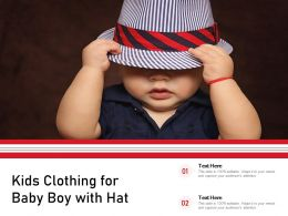 Kids Clothing For Baby Boy With Hat