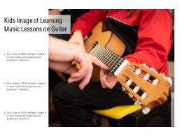 Kids Image Of Learning Music Lessons On Guitar