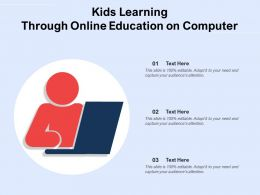 Kids Learning Through Online Education On Computer