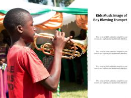 Kids Music Image Of Boy Blowing Trumpet