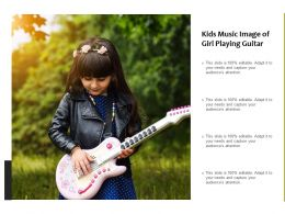 Kids Music Image Of Girl Playing Guitar