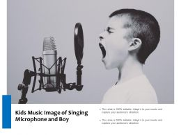 Kids Music Image Of Singing Microphone And Boy