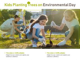 Kids Planting Trees On Environmental Day