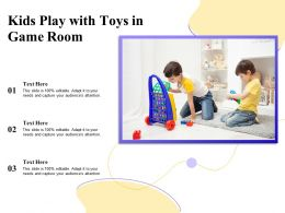 Kids Play With Toys In Game Room