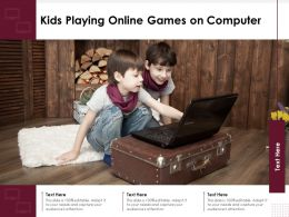 Kids Playing Online Games On Computer
