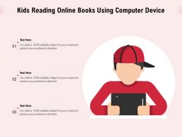 Kids Reading Online Books Using Computer Device