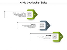 Kinds Leadership Styles Ppt Powerpoint Presentation Ideas Examples Cpb