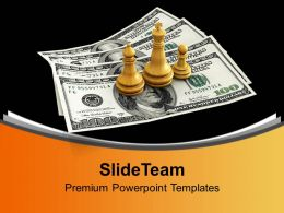 King Queen And Pawn On Us Dollars Competition Powerpoint Templates Ppt Themes And Graphics 0113