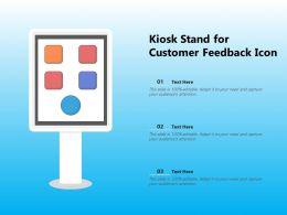 Kiosk Stand For Customer Feedback Icon