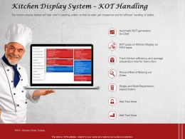 Kitchen Display System KOT Handling Generation Ppt Presentation Summary Layout